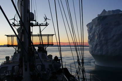 Close encounter with an iceberg, East Greenland